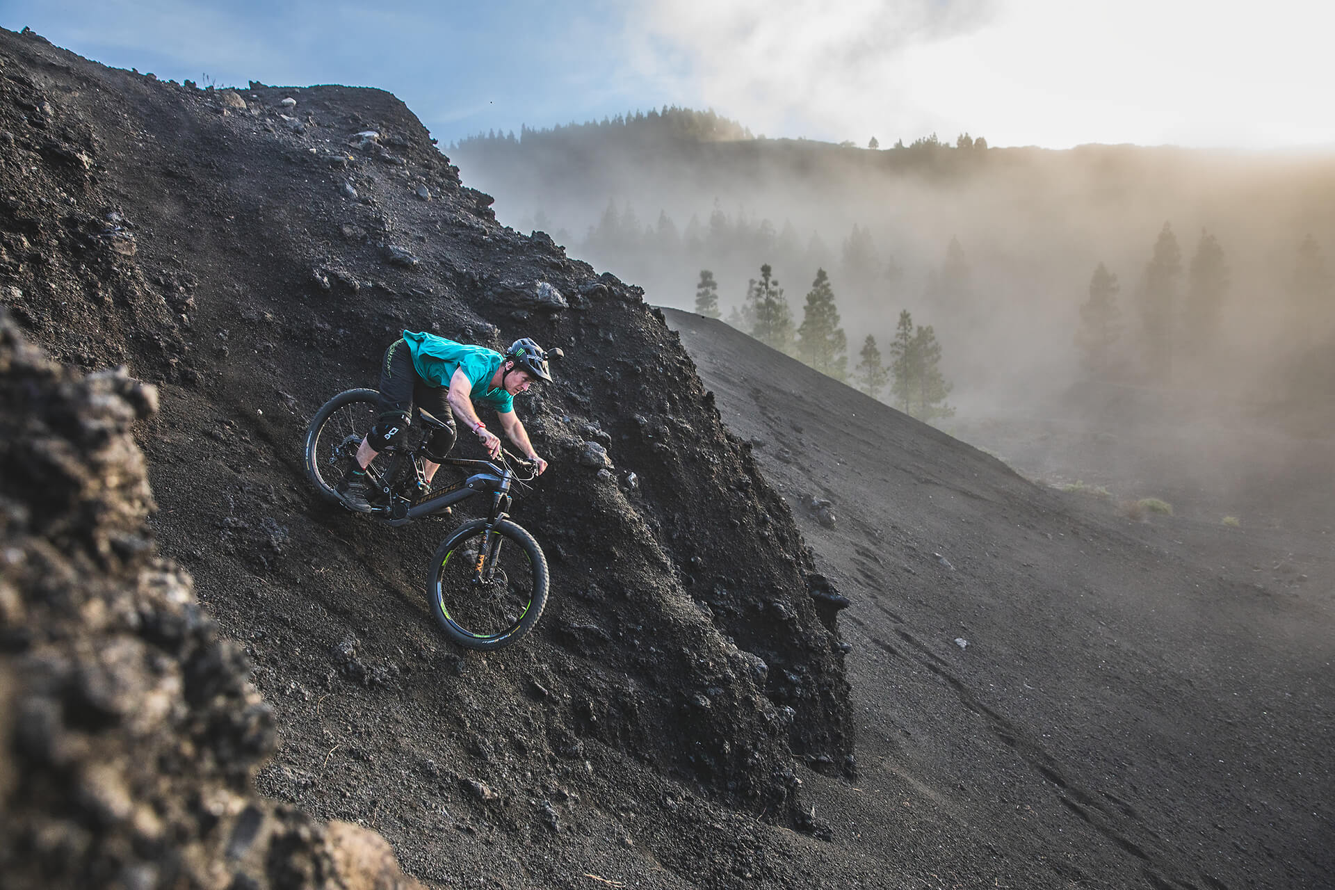 Haibike Hero Sam Pilgrim downhill riding