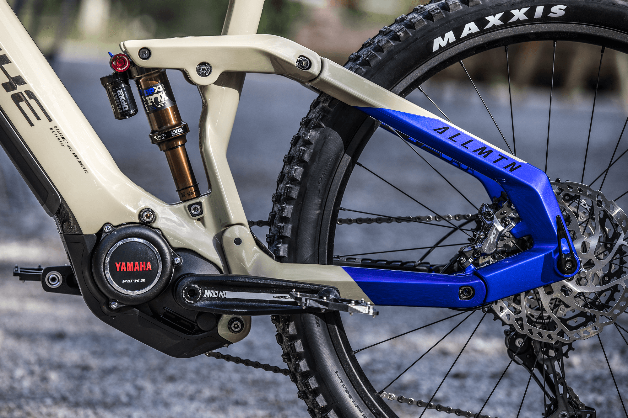 Close-up of Yamaha PW-X2 motor on Haibike AllMtn 7 eMTB
