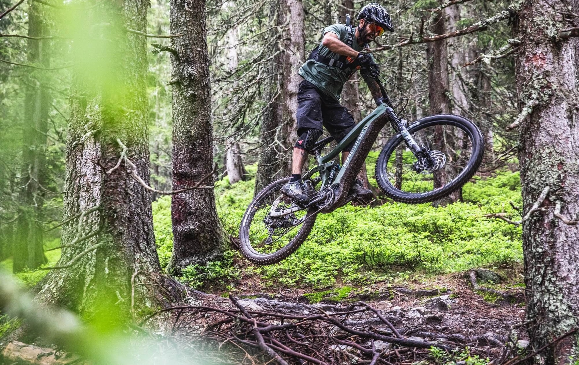 Haibike Hero Andi Wittmann doing jumps on Yamaha PW-X2 eMTB