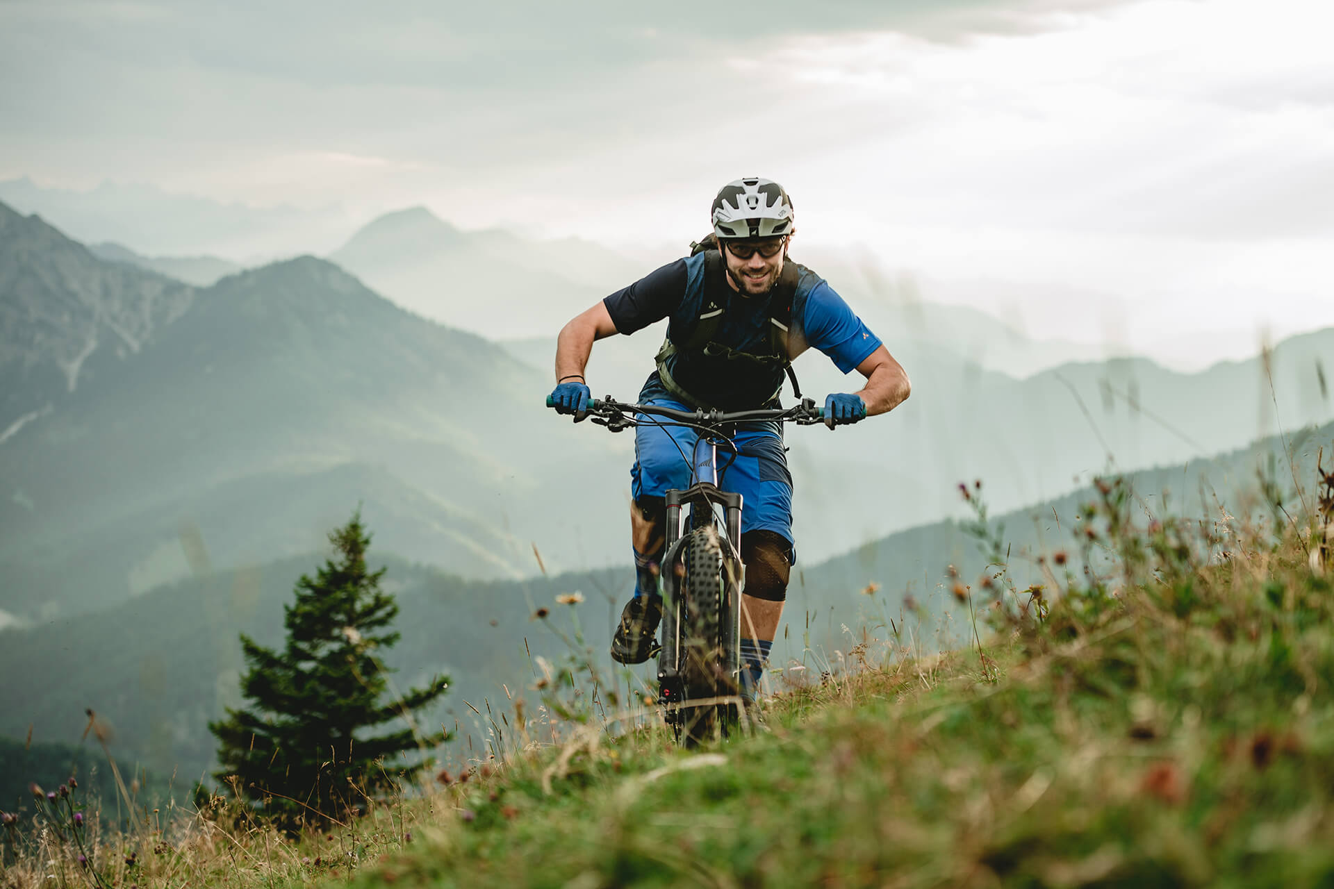 Haibike Hero Andi Wittmann riding in mountains