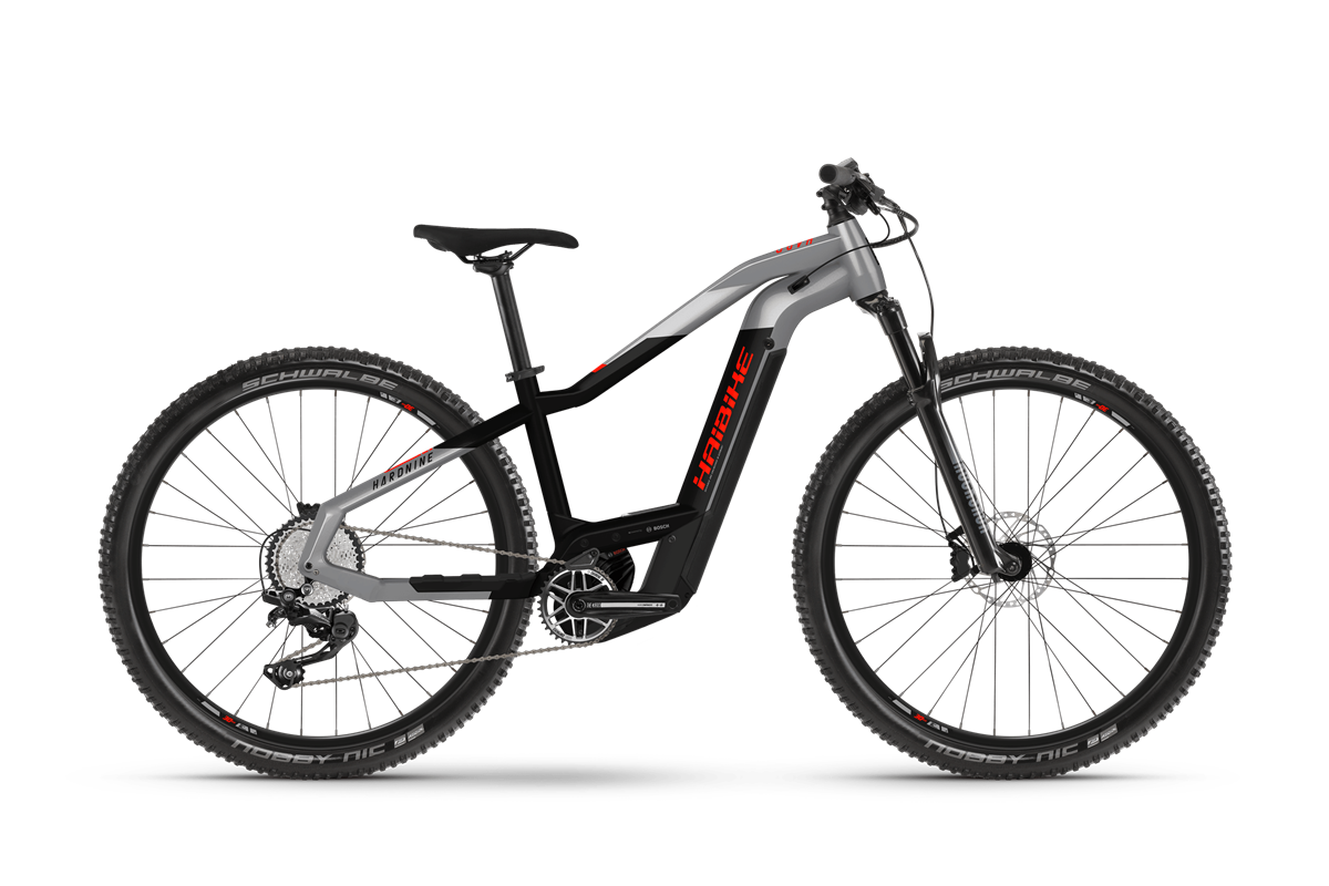 Haibike MY2021 HardNine 9 electric mountain bike product image on transparent background