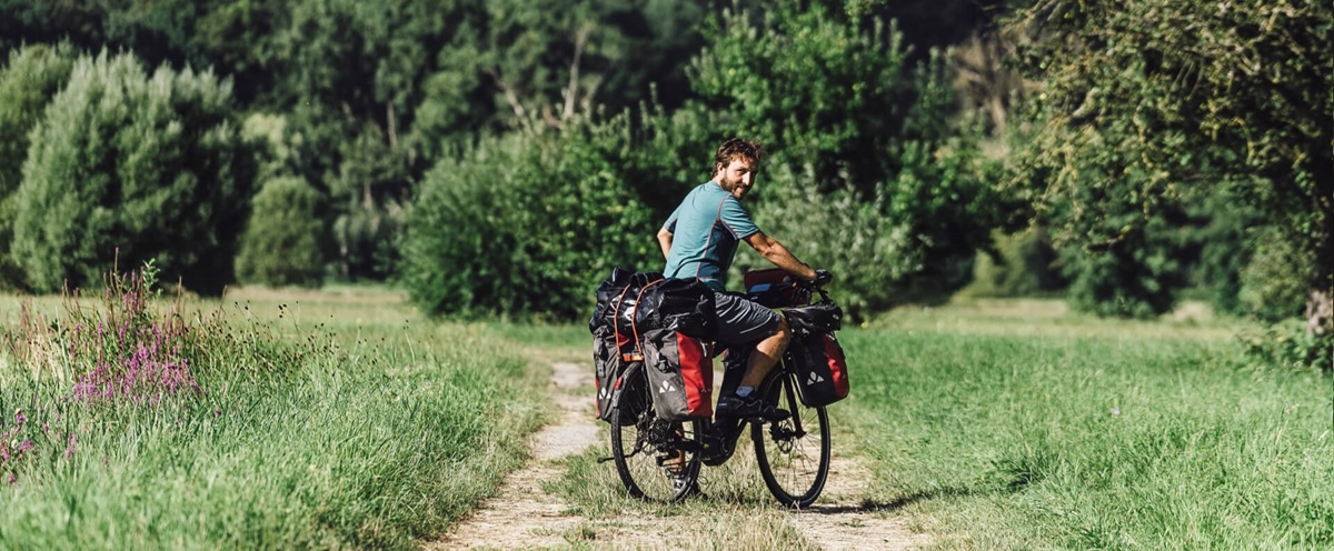 Haibike Hero Maximilian Semsch on his trekking bike